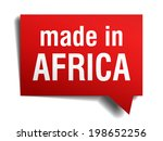 made in africa red 3d realistic ... | Shutterstock .eps vector #198652256