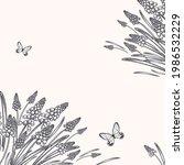 floral pattern. vintage card.... | Shutterstock .eps vector #1986532229
