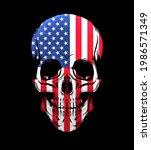 american flag skull isolated on ... | Shutterstock .eps vector #1986571349