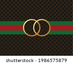 ring gold on texture background ... | Shutterstock .eps vector #1986575879
