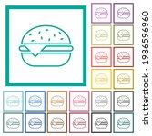 single cheeseburger flat color... | Shutterstock .eps vector #1986596960