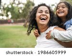 Happy Indian Mother Having Fun...