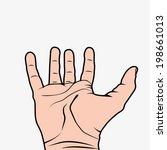 hand wide open illustration... | Shutterstock .eps vector #198661013