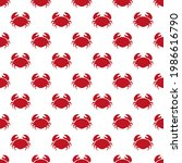 seamless pattern crab for... | Shutterstock .eps vector #1986616790
