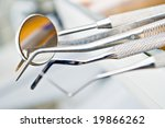 dentist's instruments with... | Shutterstock . vector #19866262