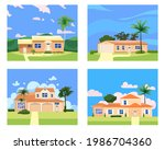 collection residential home... | Shutterstock .eps vector #1986704360