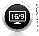 16 9 display icon | Shutterstock .eps vector #198670628