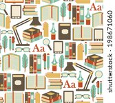 seamless pattern with books... | Shutterstock .eps vector #198671060