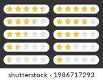 set of stars customer rating...   Shutterstock .eps vector #1986717293