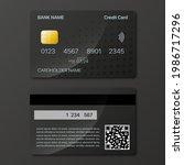 credit cards mockup design...   Shutterstock .eps vector #1986717296