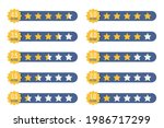 set of stars rating badges in a ...
