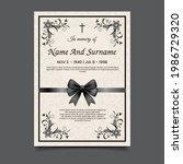 funeral card vector template ... | Shutterstock .eps vector #1986729320