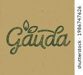 cauda. inscription for packing...   Shutterstock .eps vector #1986747626