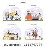 utilities sector of the economy ... | Shutterstock .eps vector #1986747779