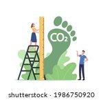 tiny female character measure... | Shutterstock .eps vector #1986750920