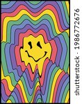 retro funny distorted melting...   Shutterstock .eps vector #1986772676