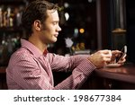 young handsome man in casual... | Shutterstock . vector #198677384