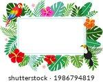 tropical summer background...   Shutterstock .eps vector #1986794819