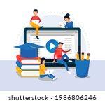 online class  e learning ...   Shutterstock .eps vector #1986806246