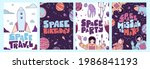 postcards posters space  people ... | Shutterstock .eps vector #1986841193