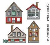 set of traditional european... | Shutterstock .eps vector #1986845660