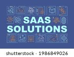saas solutions word concepts...