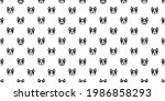 dog seamless pattern french... | Shutterstock .eps vector #1986858293