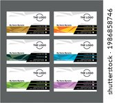 business card design with...