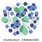 fresh delicious ripe wild... | Shutterstock .eps vector #1986862460