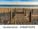 Wide Sandy Faro Beach With...