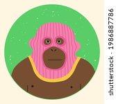 funny gorilla wearing balaclava ...   Shutterstock .eps vector #1986887786