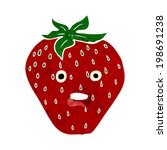 cartoon strawberry | Shutterstock .eps vector #198691238