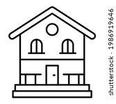 vector lodge outline icon...   Shutterstock .eps vector #1986919646