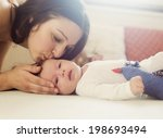 young mother is playing with... | Shutterstock . vector #198693494