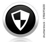 shield button | Shutterstock .eps vector #198695600