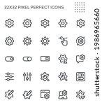 setup and settings. options ...   Shutterstock .eps vector #1986965660