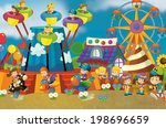 free time   children at... | Shutterstock . vector #198696659