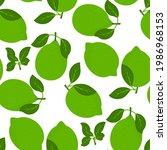 lemon fruits seamless pattern....   Shutterstock .eps vector #1986968153