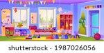 interior of empty kindergarten...   Shutterstock .eps vector #1987026056