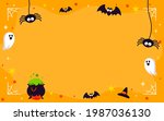 halloween frame background...   Shutterstock .eps vector #1987036130