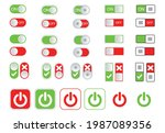 flat icon colorful switchers...