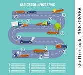 car crash infographic set with... | Shutterstock .eps vector #198708986
