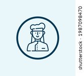 chef icon isolated on white... | Shutterstock .eps vector #1987098470