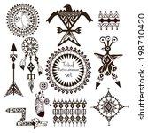 tribal native american indian... | Shutterstock .eps vector #198710420