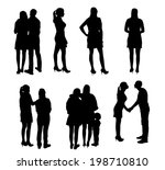 set of silhouette people. ... | Shutterstock . vector #198710810