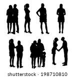 set of silhouette people. ... | Shutterstock . vector #198710810