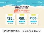 summer sale voucher template...   Shutterstock .eps vector #1987111670