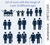 icon set by age couples of all... | Shutterstock .eps vector #198712103
