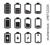 simple illustrated battery icon ... | Shutterstock .eps vector #198712220