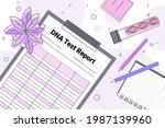 dna test report researcher... | Shutterstock .eps vector #1987139960
